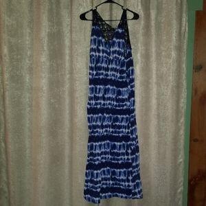 Lace back maxi dress